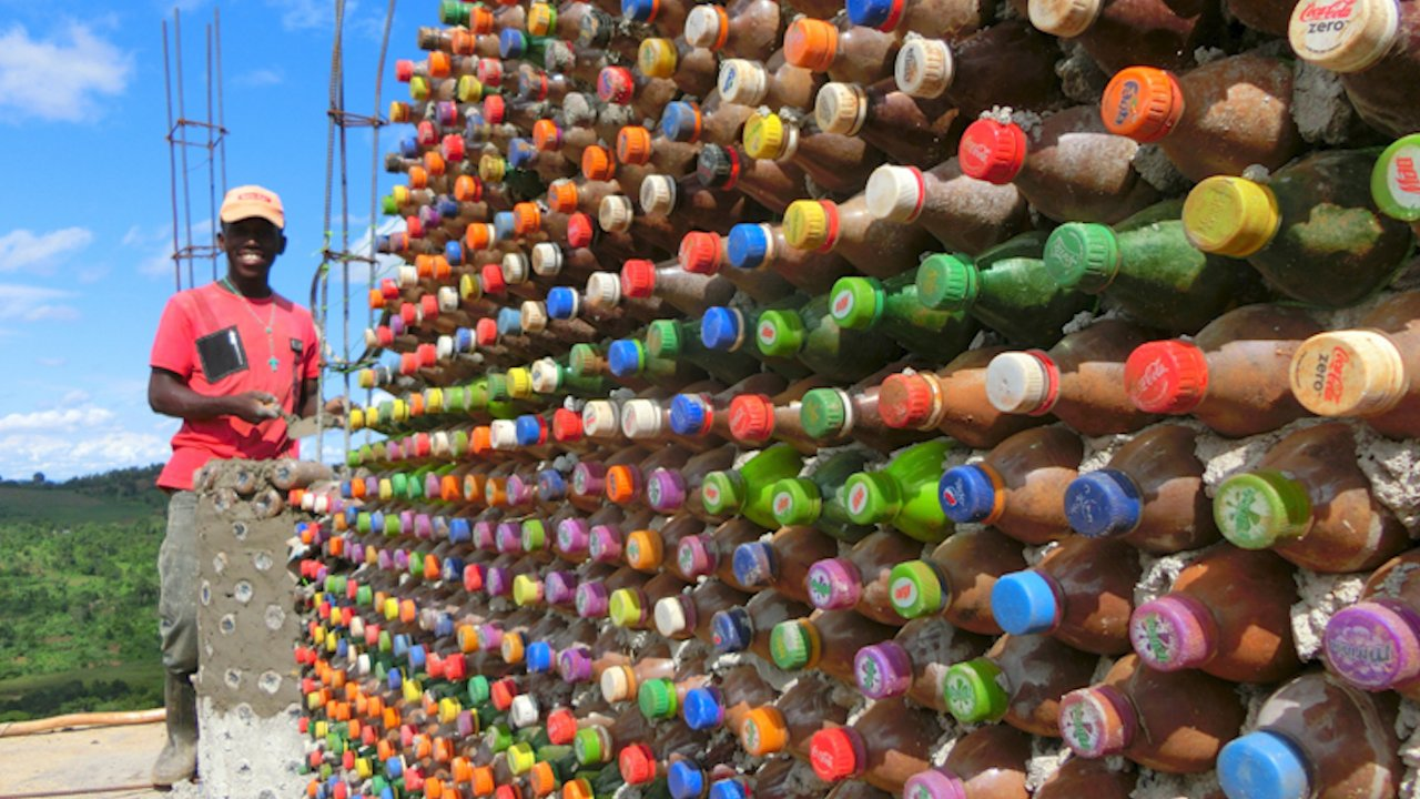 Houses Made From Recycled Plastic Bottles