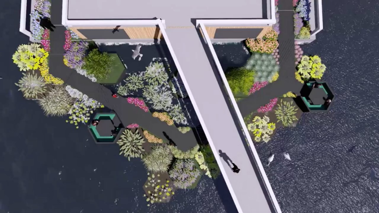 Floating Park Made From Plastic Pollution