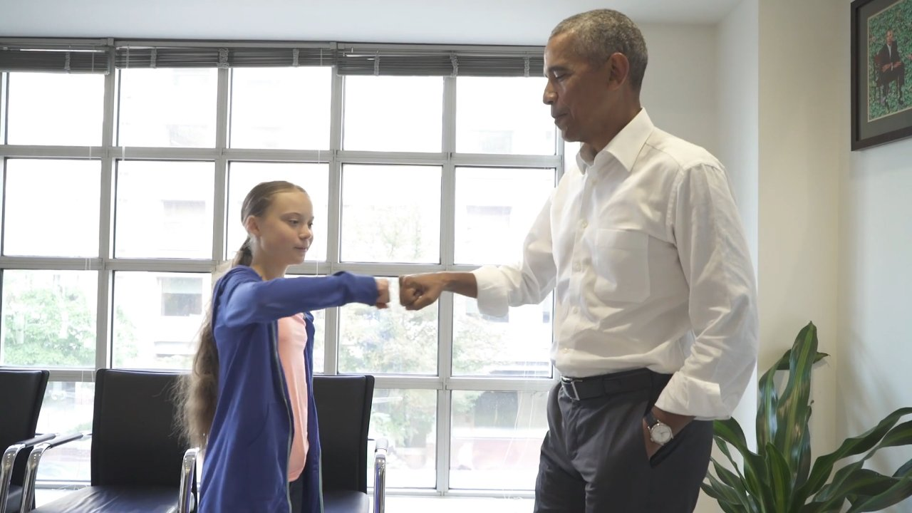 Obama Meets With Greta Thunberg