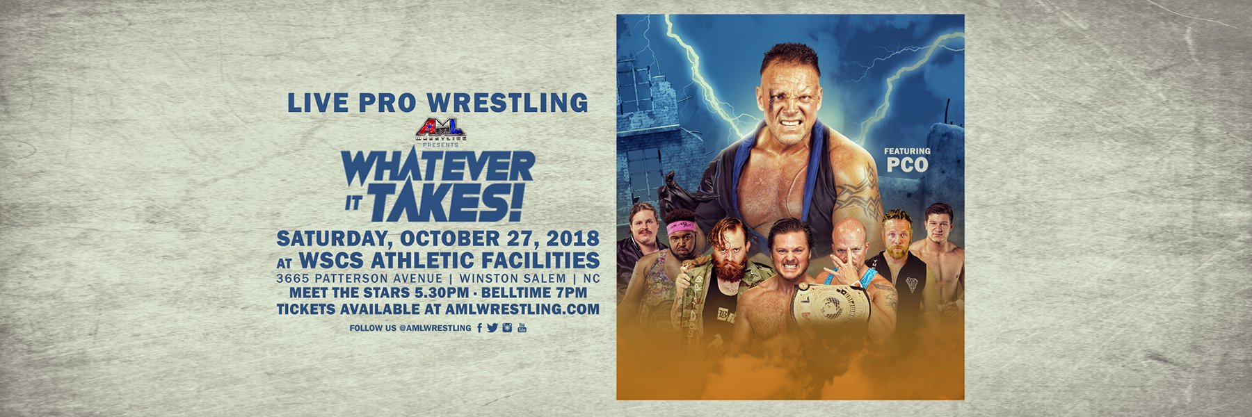 AML Wrestling - Whatever It Takes | PCO vs Caleb Konley in Main Event!