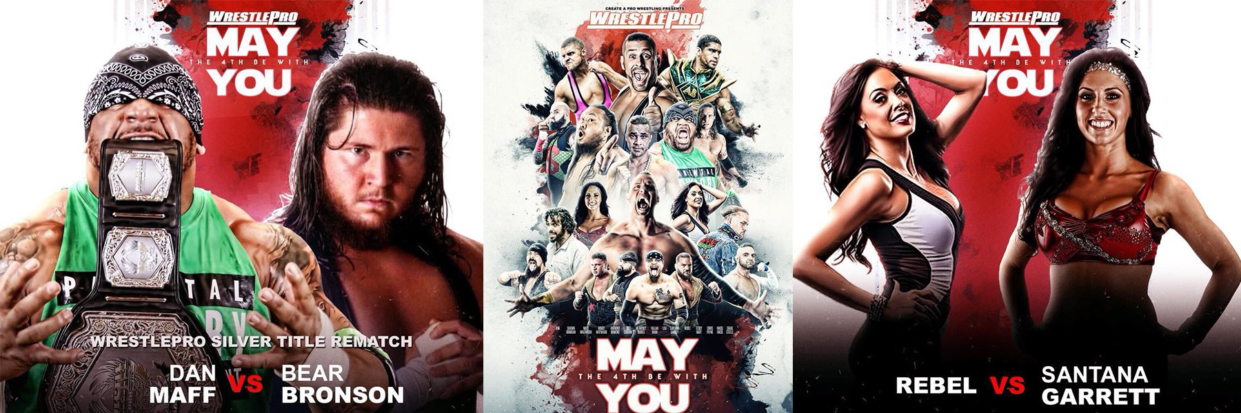 New WrestlePro Just Added! Santana Garrett vs Rebel, Dan Maff vs Bronson