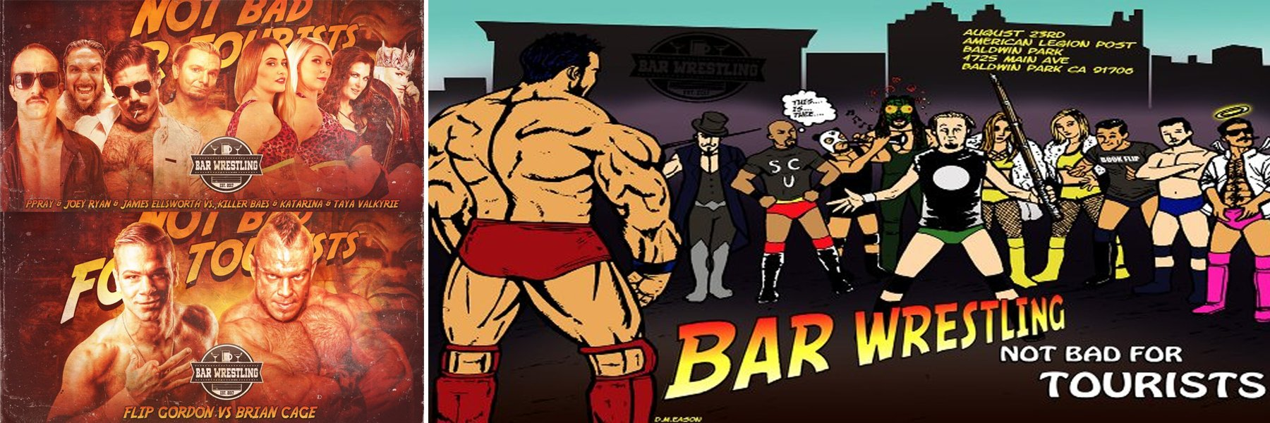 Bar Wrestling 17: Brian Cage vs Flip Gordon, Joey Ryan, James Ellsworth