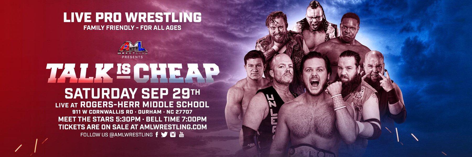 AML Wrestling: Talk is Cheap, Shannon Moore vs Caleb Konley - Street Fight!