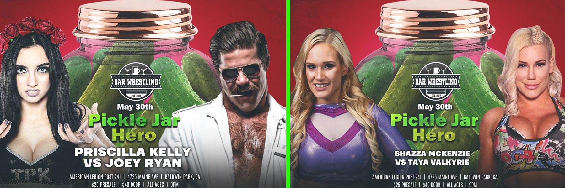 Bar Wrestling 36! Joey Ryan vs Priscilla Kelly, Taya Valkyrie vs Shazza