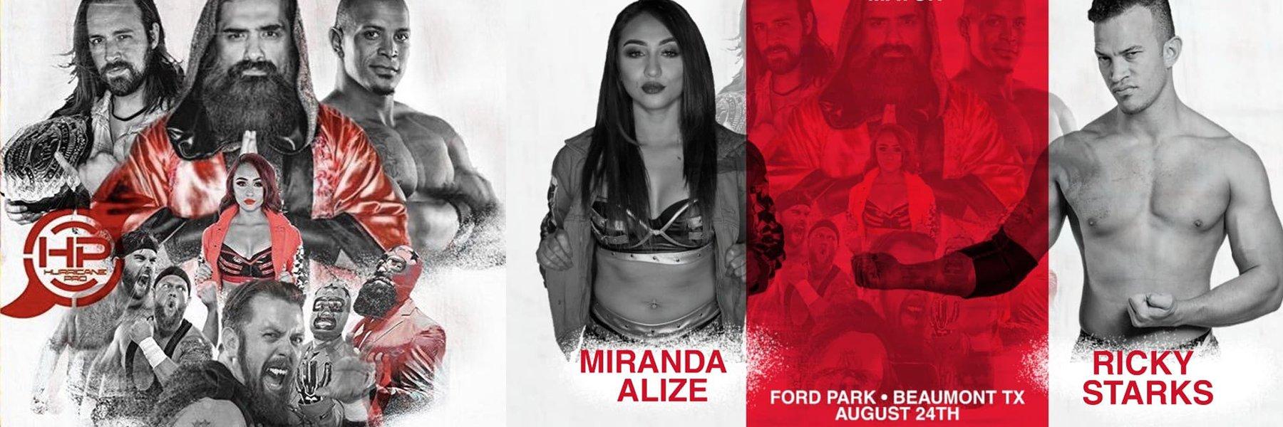 Hurricane Pro LIVE iPPV 8/24 - Miranda Alize vs Ricky Starks, Ryan Davidson