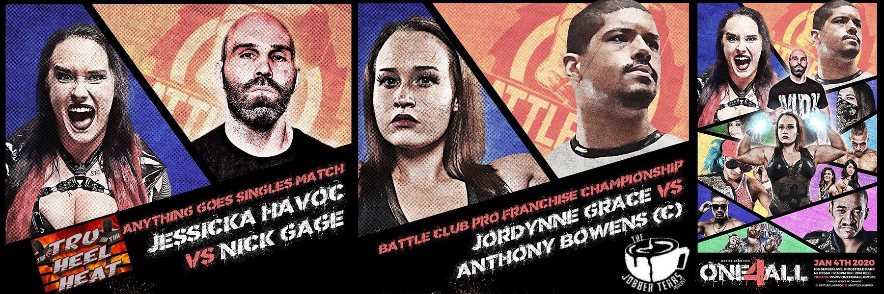 "Just Added! Battle Club Pro ""One 4 All"" - Jordynne Grace vs Anthony Bowens"