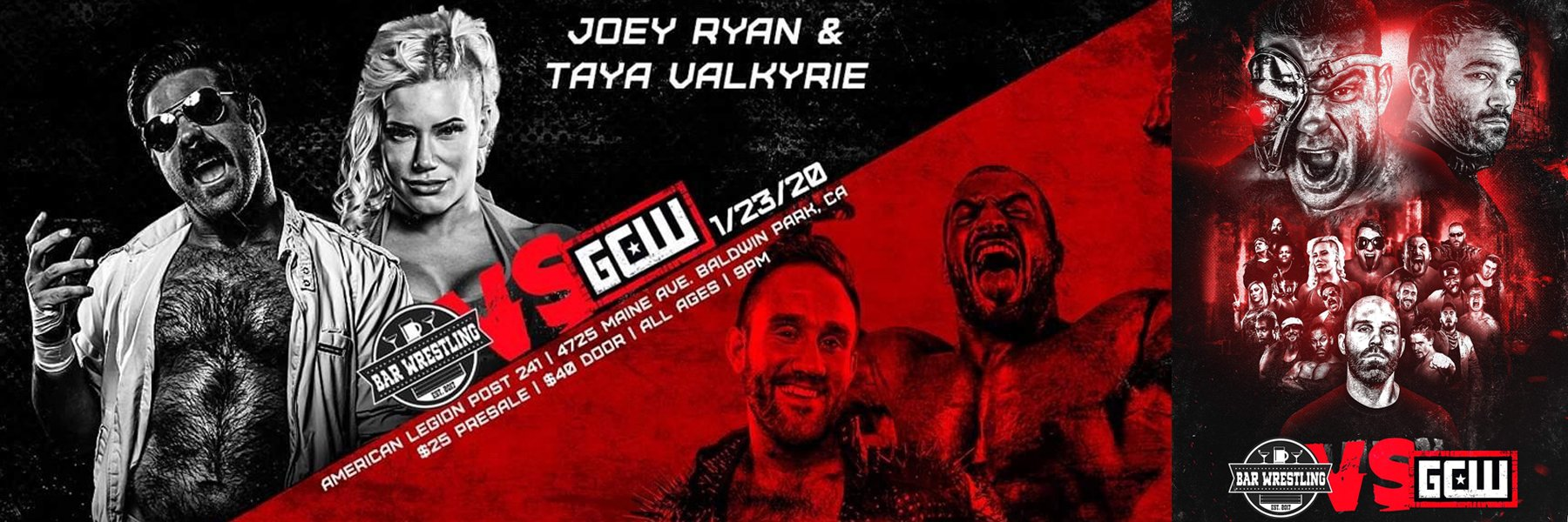 NEW: Bar Wrestling vs Game Changer Wrestling (GCW) Joey Ryan, Taya Valkyrie
