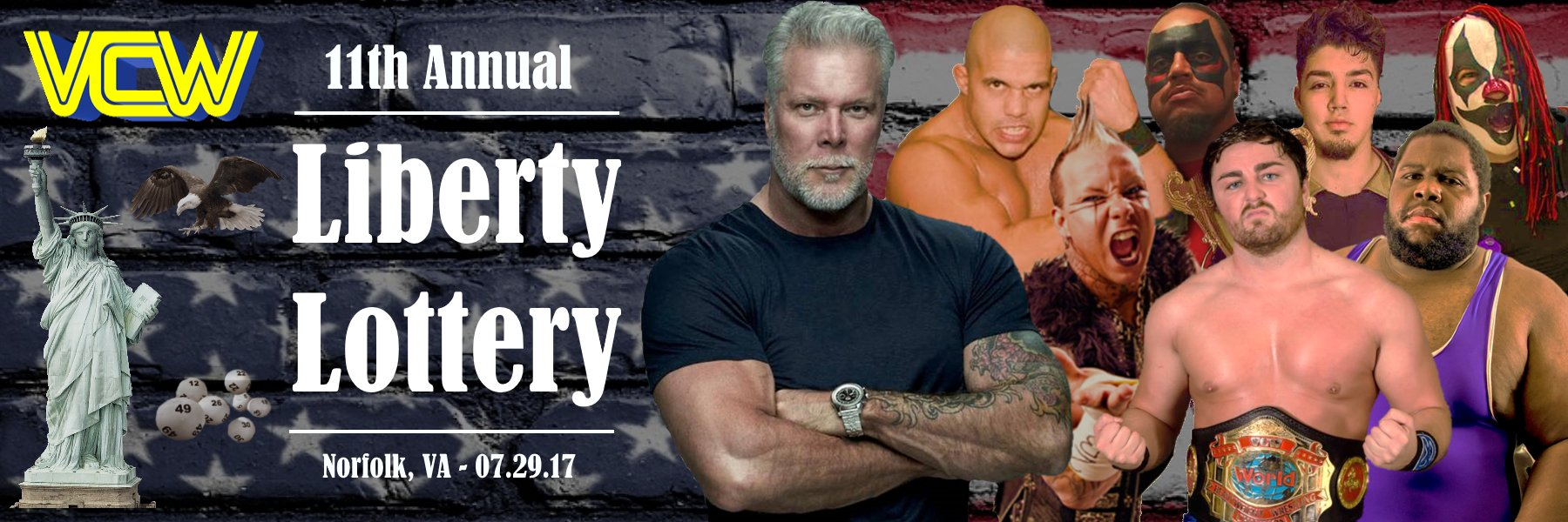 Available Now!  VCW Liberty Lottery 2017!  With special guest: Kevin Nash!