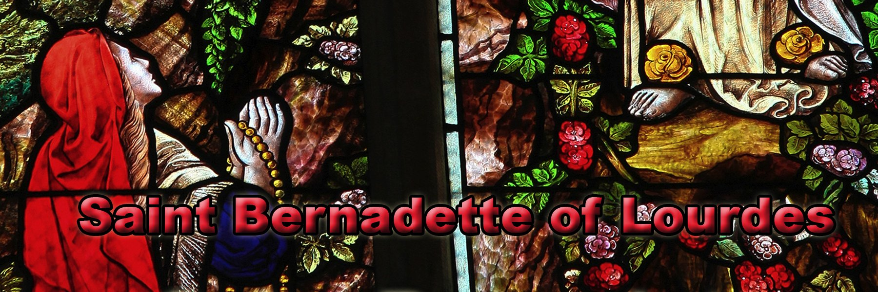 Saint Bernadette the visionary of Lourdes