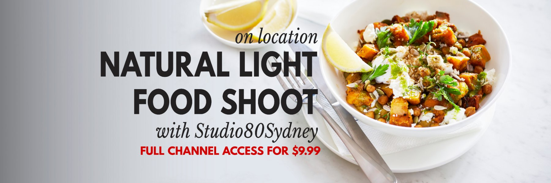LEARN NATURAL LIGHT FOOD PHOTOGRAPHY ONLINE
