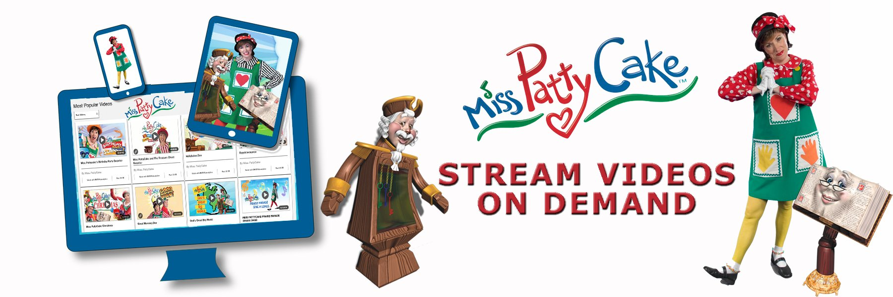 Miss Pattycake | Miss PattyCake uses stories/ music to offer early childhood education with a Christian world view. | Watch Online Videos for Just $6.99