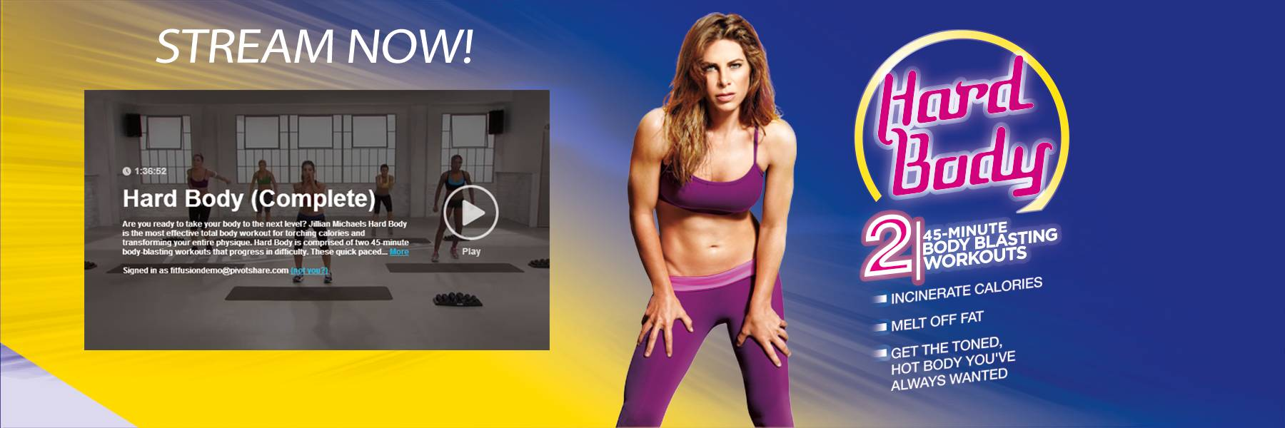 WORKOUT ANYTIME WITH JILLIAN MICHAELS