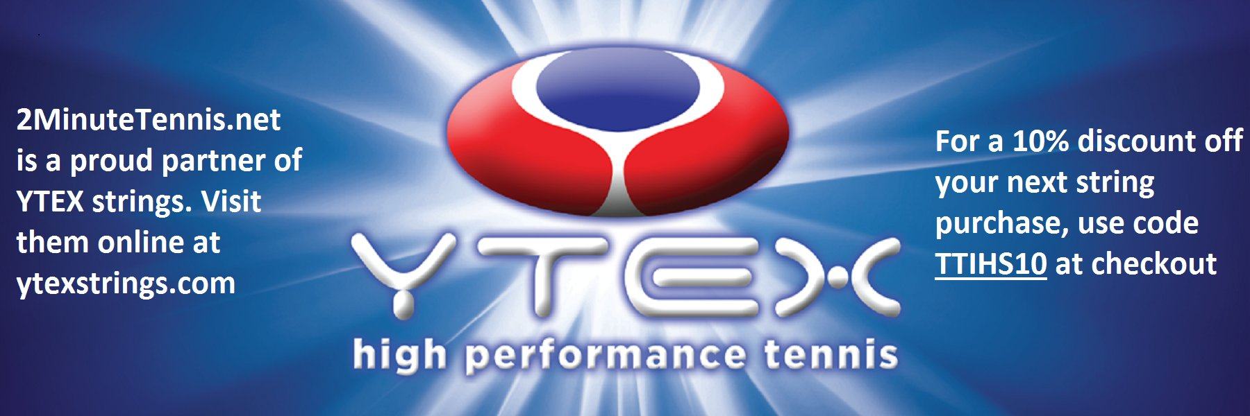 2MinuteTennis.net is a Proud Supporter of YTEX High Performance Tennis