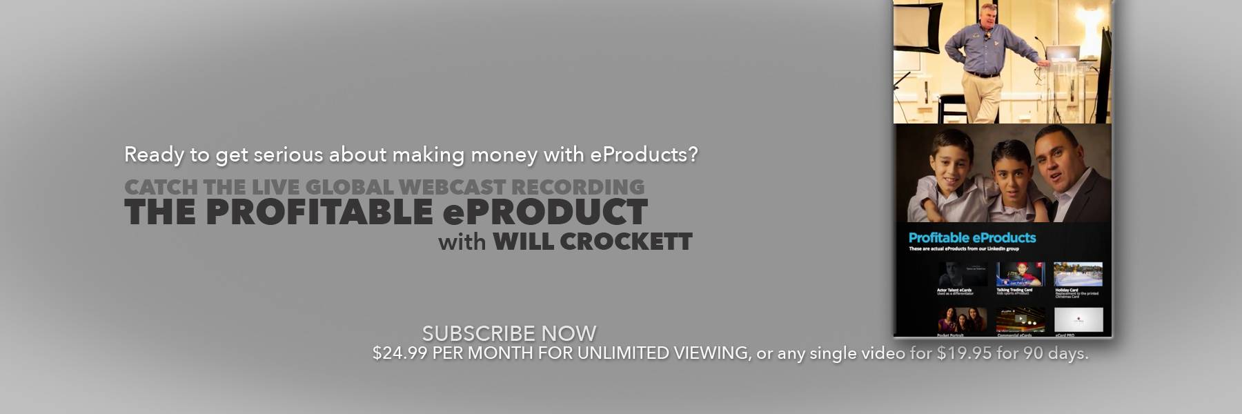 Low product cost, high margin eProducts.