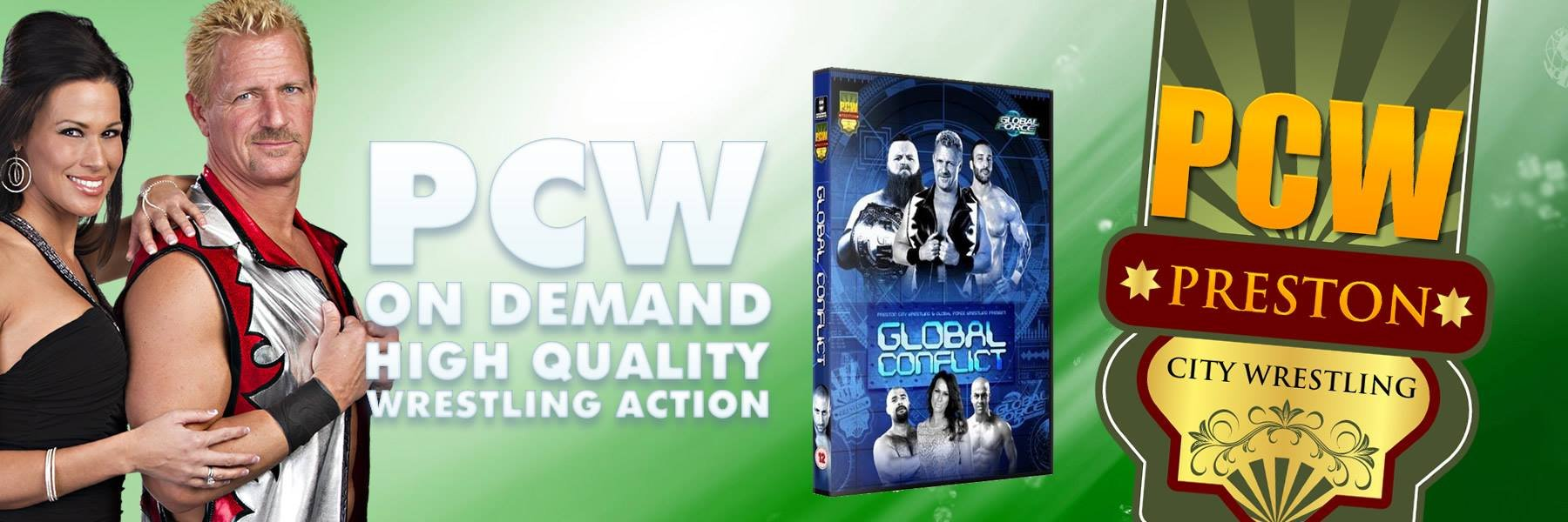 Global Force Wrestling vs PCW! Online now!