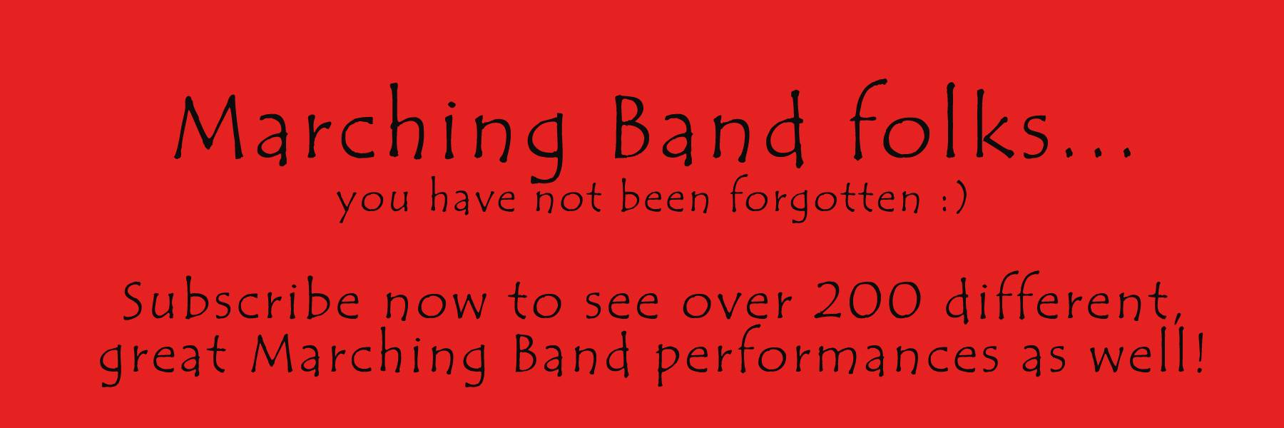 Click this to take you to Marching Bands 2013!