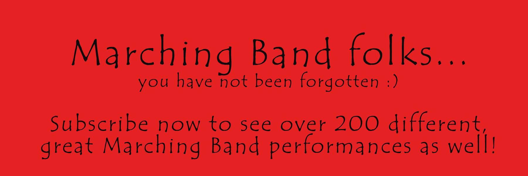 We are currently uploading 2014 Performances!