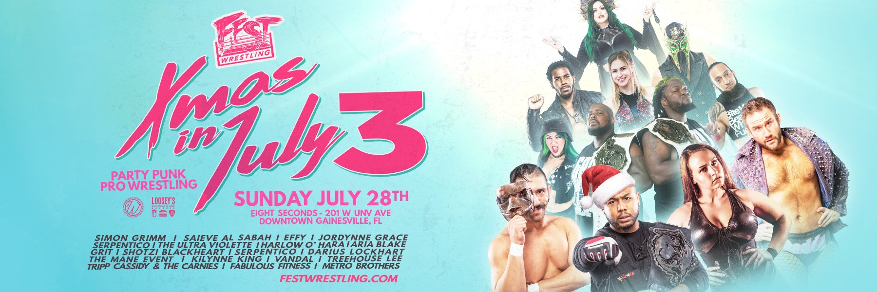 FEST Wrestling Xmas in July 2019 Streaming Now!