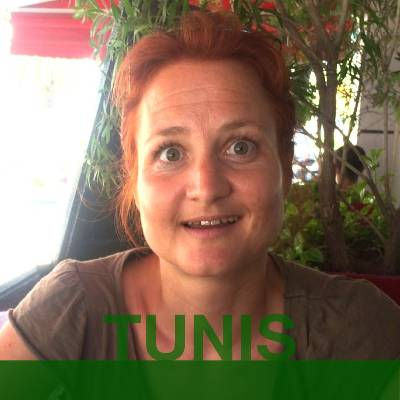 TUNIS: Sabine from Germany. Headshot