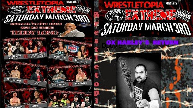 """Wrestletopia Presesnts MSWA """"Extreme"""" 2018"""