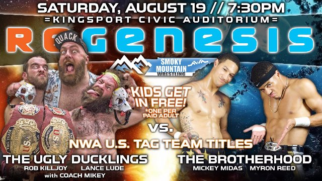 Innovate Wrestling - The Ugly Ducklings vs. Myron Reed & Mickey Midas