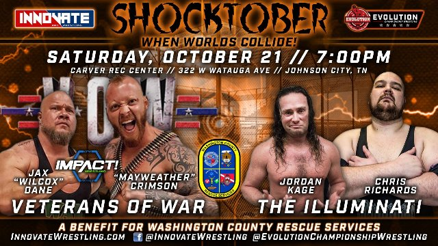 Shocktober - Jax Dane & Crimson vs. Chris Richards & Jordan Kage