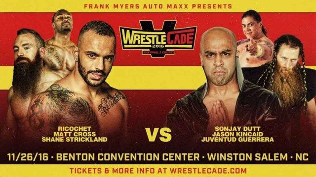 6-Man-Tag: Ricochet, Shane Stickland & Matt Cross vs Juventud Guerrera, Sonjay Dutt & Caleb Konley