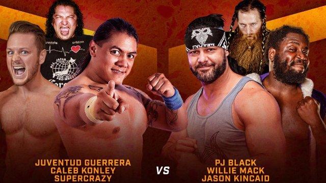 WrestleCade SuperShow2017 - Super Crazy, Caleb Konley & Juvi vs PJ Black, Willie Mack & Jason Kincaid