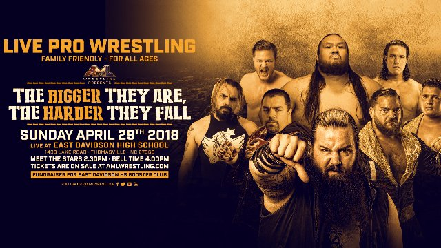 AML Wrestling - The Bigger They Are, The Harder They Fall 4.29.18 (Fallah Bahh vs Zane Dawson)