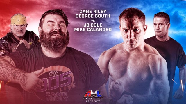 AML Wrestling - Zane Riley & George South vs JB Cole & Mike Calandro