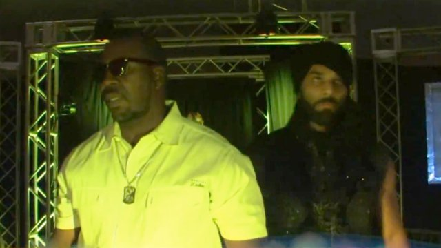 Jinder Mahal & Jared Steele vs Alex Reigns & Mysterious Q - 9.13.14