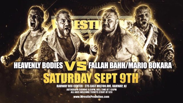 WrestlePro - Heavenly Bodies vs Mario Bokara & Fallah Bahh