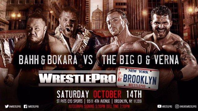 WrestlePro 10.14.17 Full Show (Fallah Bahh & Mario Bokara vs Big O & Verna)