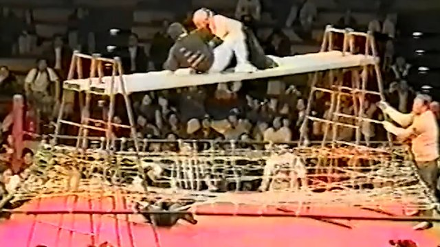 Best of Big Japan Deathmatches Vol 4  (Circus Barbed Wire Trampoline Scaffold Free Fall Deathmatch)