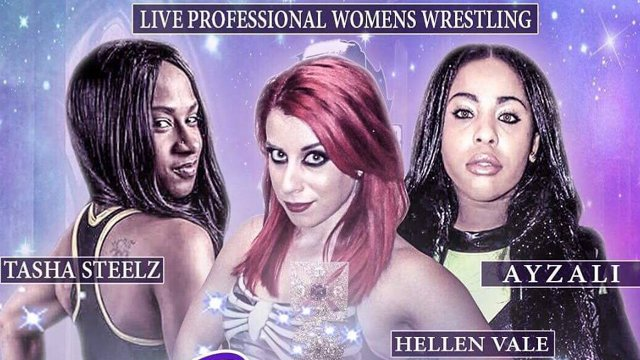 Battle Club Pro - 3-Way Women's Match: Ayzali vs Tasha Steelz vs Veda Scott (replacement for Hellen Vale)