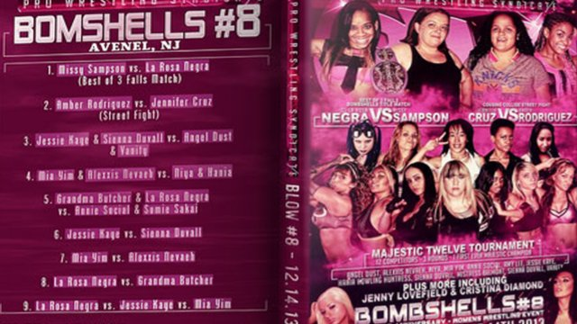 BLOW: Bombshell Ladies of Wrestling 8 - 12.14.13 FULL SHOW (Mia Yim vs La Rosa Negra vs Jessie Kaye)