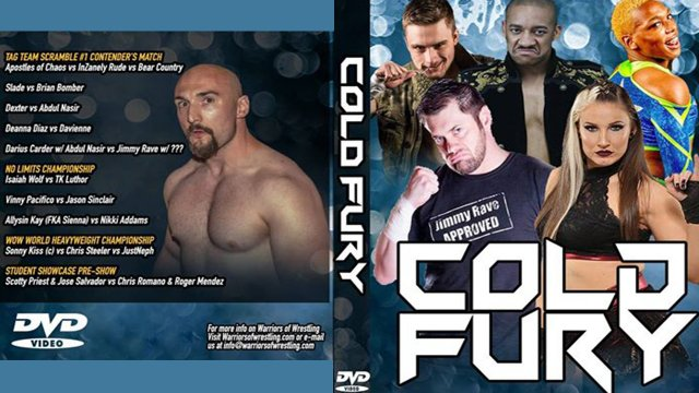 Warriors of Wrestling - Cold Fury 2.16.19 (Sienna vs Nikki Addams, Jimmy Rave vs Darius Carter, Davienne vs Deanna Diaz)