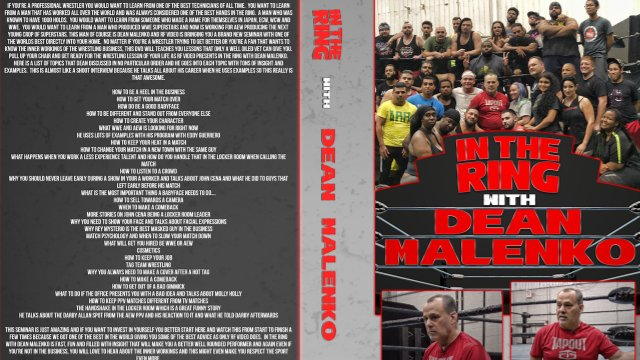 In the Ring with Dean Malenko (2019 Seminar)