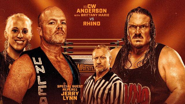 Wrestlecade Supershow 2019 - Rhino vs CW Anderson (AML Heavyweight Championship)