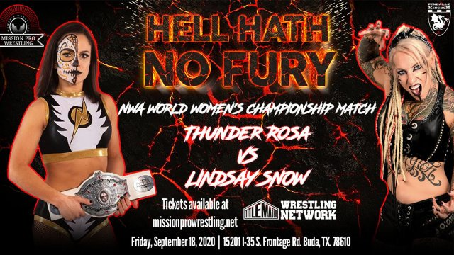 Mission Pro Wrestling - Hell Hath No Fury Promo for 9/18 Livestream