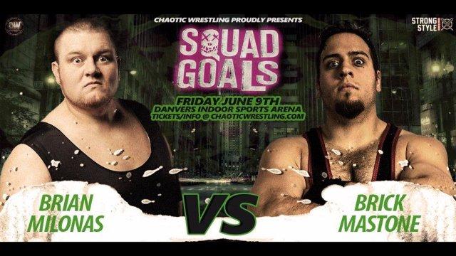 Chaotic Wrestling - Brick Mastone vs Brian Milonas
