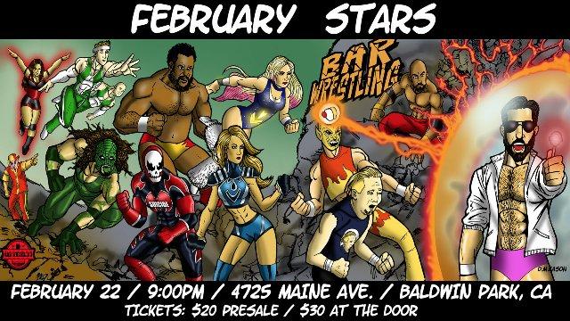 Bar Wrestling 9 February Stars