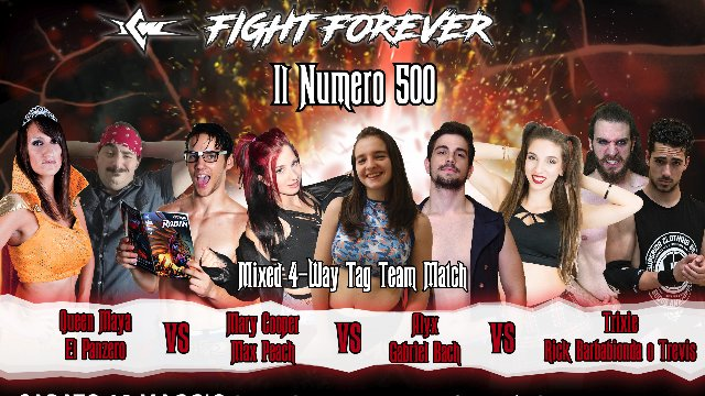 2019 - Episode 9 - ICW Il Numero 500 - Four Way Elimination Mixed Tag Team Match