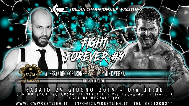 2019 - Episode 11 - ICW Fight Forever #9 - Mike Verna vs Alessandro Corleone