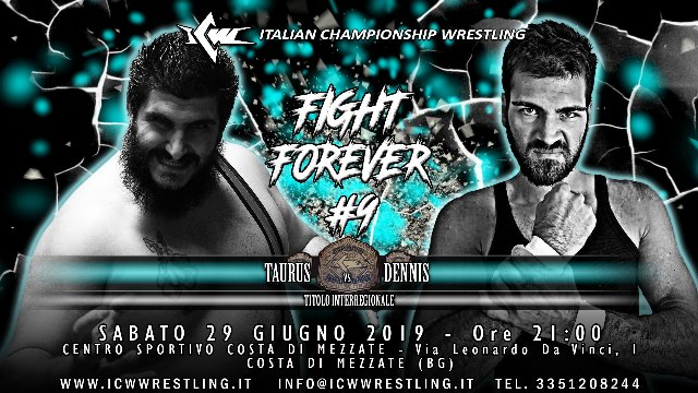 2019 - Episode 16 - ICW Fight Forever #9 - Taurus vs Dennis