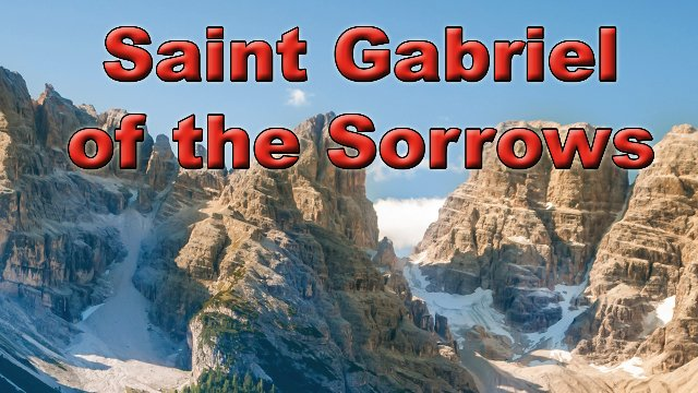Saint Gabriel of the Sorrows