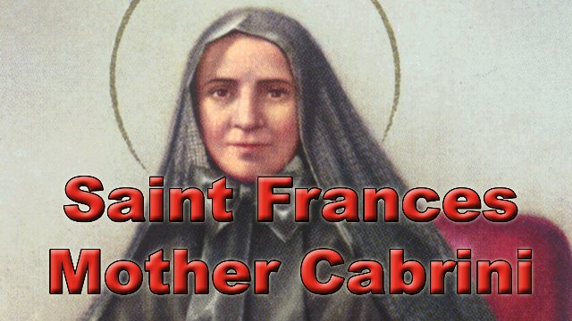 Saint Frances Mother Cabrini