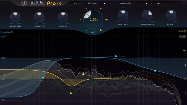 Creating the 3 main reverbs using the FabFilter Pro R reverb