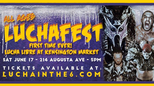 LUCHAFEST in Kensington feat. Chris Dickinson, Mecha Balam & Serpentico