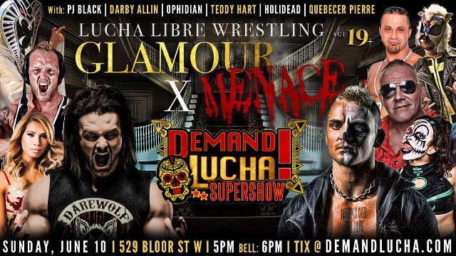 GLAMOUR X MENACE w/ PCO, Darby Allin, PJ Black, Teddy Hart, Ophidian & Holidead